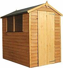 Waltons Geräteschuppen / Gartenhaus, aus Holz, Überfälzung, spitz zulaufendes Dach, 1,8x1,2m