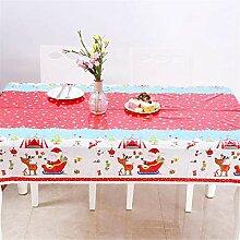 WAM Einweg-Tischdecke aus PVC für Weihnachten,