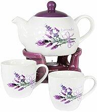 Wamat Teekanne Stövchen Set + Teetassen