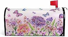 Wamika Blumen, Bunte Schmetterlinge, rosa
