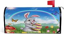 Wamika Happy Bunny hält Ostereier, magnetisch,