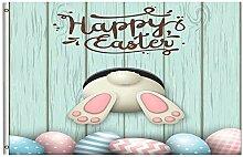Wamika Happy Ostern Fahne 91,4 x 152,4 cm mit