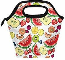 Wamika Lunchbox mit Wassermelonen-Zitrusmotiv,