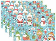 Wamika Platzdeckchen mit Weihnachtsmann und