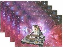 WAMIKA Platzdeckchen Set von 1, Pretty Galaxy DJ