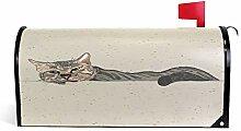 Wamika Vintage Cat Welcome Magnetbriefkasten,