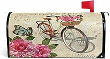 Wamika Vintage Rosen Schmetterling und Fahrrad,