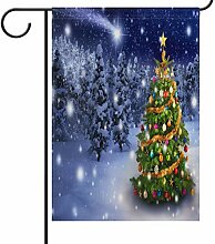 Wamika Weihnachtsbaum Seasonal Garten Flagge für