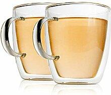 Wan Li Doppelstöckige Glaskaffeetasse Glas Pyrex