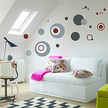 Wand Aufkleber Dots   leicht zu schälen einfach