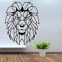 Wand Aufkleber Geometrische Objekte Löwenkopf