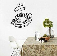 Wand Aufkleber Kreative Kaffeetasse Blume