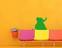 Wand Aufkleber No. UL893Fat Elefant sitzend