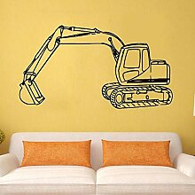 Wand Aufkleber Traktor Bagger Wandaufkleber