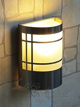 Wand-Außenleuchte aus Edelstahl & Glas IP44