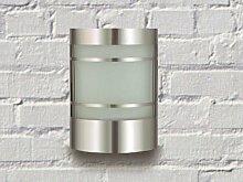 Wand-Außenleuchte aus Edelstahl und Glas IP44