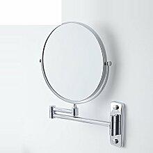 Wand-Badezimmer Kosmetikspiegel/Falten Spiegel/Toilette Teleskop Spiegel/Double-sided vergrößerten Spiegel