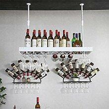Wand befestigtes Weinregal | Metall hängende