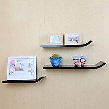 Wand Bücherregal J Regal Kreative Regale Mode Schallwand TV-Schrank Hintergrund Wand Dekorrahmen (Mehrfache Arten vorhanden) ( Farbe : H )