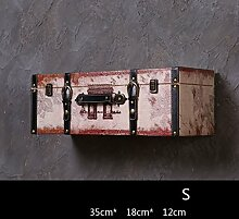 Wand-Dekorationen Bar Kreative Wand Hintergrund Wand Anhänger Retro Industrial Wind Stil Stereo-Box Wand hängt ( Farbe : 3# , größe : S )