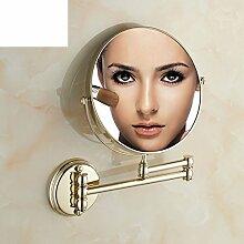 Wand-Doppelzimmer Bad Kosmetikspiegel/Teleskop Klapp Kosmetik Wandspiegel