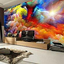 Wand-Farbe 3D bewölkt abstrakte