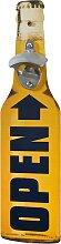 Wand-Flaschenöffner Bierflasche, gelb