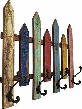 Wand-Garderobe Garderobenleiste 7 Haken Flur Holz