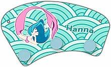 Wand-Garderobe mit Namen Hanna und schönem Motiv