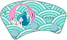 Wand-Garderobe mit Namen Lena und schönem Motiv