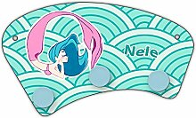 Wand-Garderobe mit Namen Nele und schönem Motiv