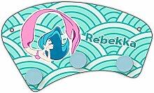 Wand-Garderobe mit Namen Rebekka und schönem