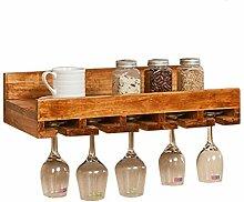 Wand Holz Weinregal mit Weinglas Rack
