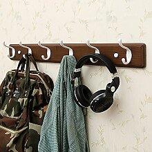 Wand-Kleiderbügel Kleiderbügel, Bad-Haken, Wandregale, Wandhänger Haken, kreative Kleiderständer ( Farbe : Retro color , größe : 73.8*8*7.8cm )
