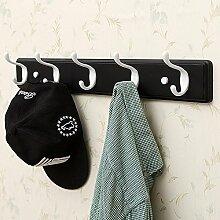 Wand-Kleiderbügel Kleiderbügel, Bad-Haken, Wandregale, Wandhänger Haken, kreative Kleiderständer ( Farbe : Schwarz , größe : 61*8*7.8cm )