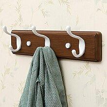 Wand-Kleiderbügel Kleiderbügel, Bad-Haken, Wandregale, Wandhänger Haken, kreative Kleiderständer ( Farbe : Retro color , größe : 35.5*8*7.8cm )