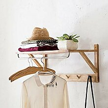 Wand Kleiderstange Garderobe Wandbehang Holz