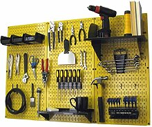 Wand Kontrolle 30-wrk-400wb Standard Werkbank Metall Stecktafel Werkzeug Organizer, 30-WRK-400 YB