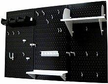 Wand Kontrolle 30-wrk-400wb Standard Werkbank Metall Stecktafel Werkzeug Organizer, 30-WRK-400 BW