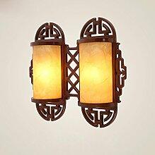 Wand kreative neue chinesische Holz geschnitzt Bartheke Flur Flur beleuchtet Schlafzimmer Nachttischlampen warme Art und Weise