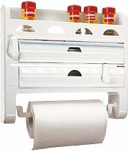 Wand-Küchenrollenhalter 3fach mit Regal