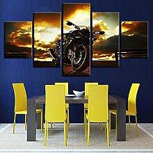 Wand Kunstdruck Modulare Bilder Aquarell 5 Panel
