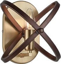 Wand Lampe bronze FERNBEDIENUNG Dimmer Ringe