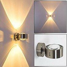 Wand-Lampe geradlinig aus Metall in Nickel -