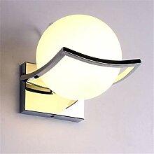 Wand Lampe Glaskugel geführt, modern, für Innen,