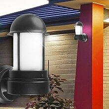 Wand Leuchte AUSSEN Ø165mm/ Schwarz/ Alu/ Lampe Aussenlampe Aussenleuchte Wandlampe Wandleuchte