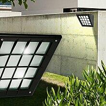 Wand Leuchte AUSSEN Ø195mm/ Schwarz/ Kunststoff/ Lampe Aussenlampe Aussenleuchte Wandlampe Wandleuchte