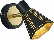 Wand Leuchte Gästezimmer Lese Lampe Beleuchtung schwarz gold verstellbar Trio Leuchten 800300132