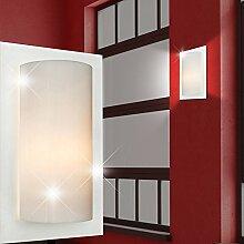 Wand Leuchte Weiß/ Acryl/ Lampe Wandlampe Wandleuchte