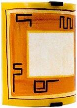 Wand Leuchte Wohn Zimmer Decken Beleuchtung Glas Lampe orange IP20 Eglo 87317o